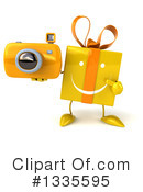 Yellow Gift Character Clipart #1335595