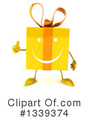Yellow Gift Character Clipart #1339374 by Julos