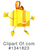 Yellow Gift Character Clipart #1341823