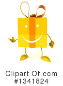 Yellow Gift Character Clipart #1341824