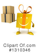 Yellow Gift Clipart #1310346 by Julos