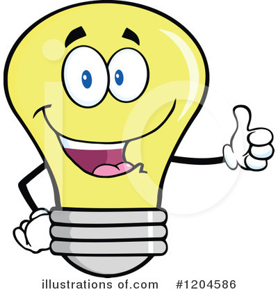 Yellow Light Bulb Clipart #1204586 by Hit Toon
