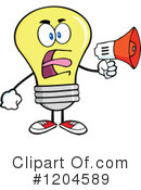 Yellow Light Bulb Clipart #1204589 by Hit Toon