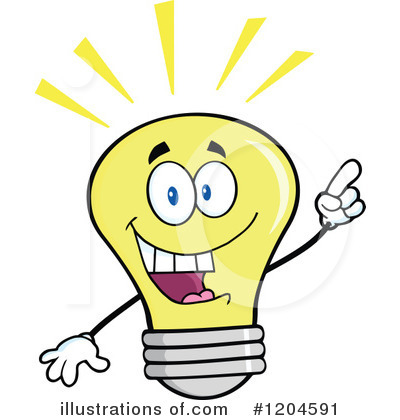Yellow Light Bulb Clipart #1204591 by Hit Toon