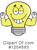 Yellow Light Bulb Clipart #1204593 by Hit Toon