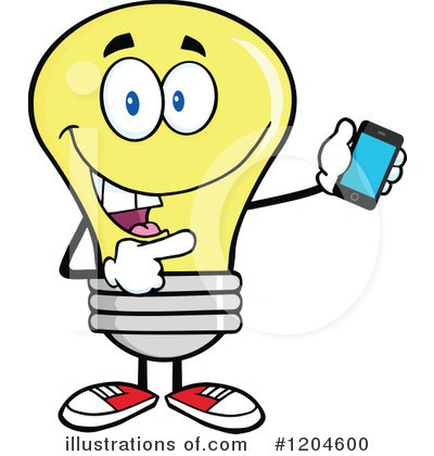 Yellow Light Bulb Clipart #1204600 by Hit Toon