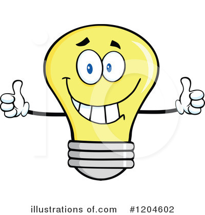 Yellow Light Bulb Clipart #1204602 by Hit Toon