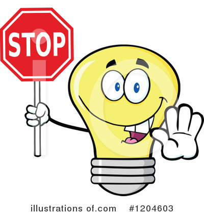 Yellow Light Bulb Clipart #1204603 by Hit Toon