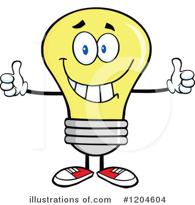 Yellow Light Bulb Clipart #1204604 by Hit Toon
