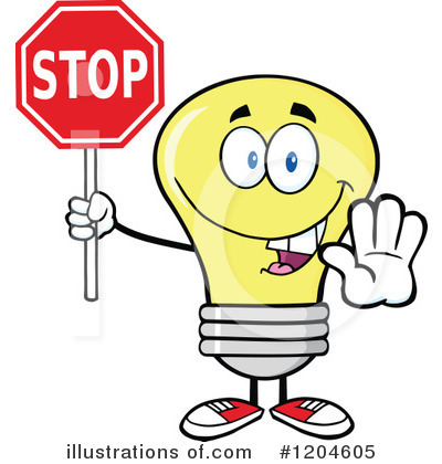 Yellow Light Bulb Clipart #1204605 by Hit Toon