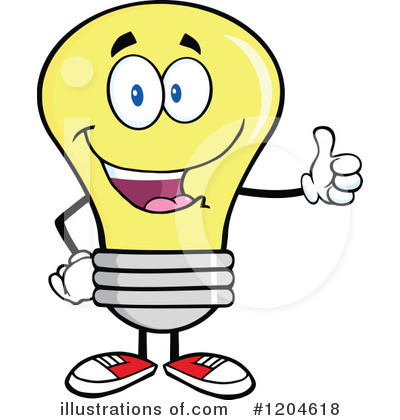 Yellow Light Bulb Clipart #1204618 by Hit Toon