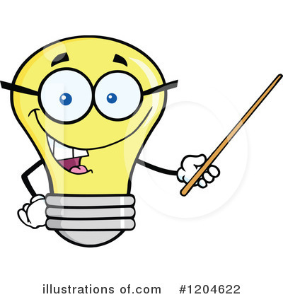 Yellow Light Bulb Clipart #1204622 by Hit Toon
