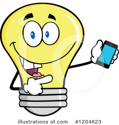 Yellow Light Bulb Clipart #1204623 by Hit Toon