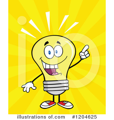 Yellow Light Bulb Clipart #1204625 by Hit Toon