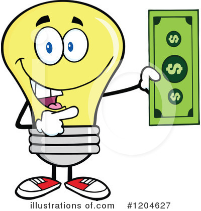 Yellow Light Bulb Clipart #1204627 by Hit Toon