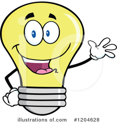 Yellow Light Bulb Clipart #1204628 by Hit Toon