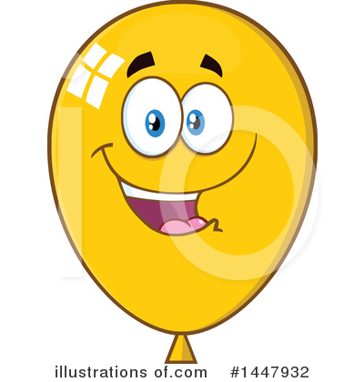 Balloons Clipart #1447932 by Hit Toon