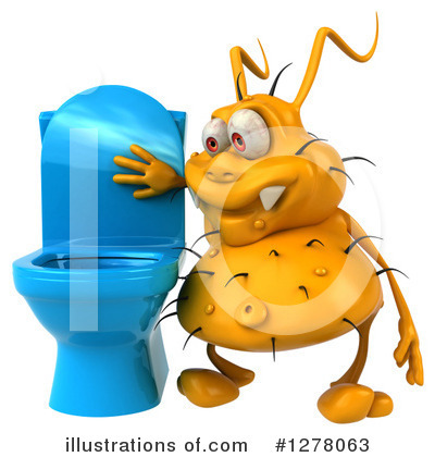 Yellow Germ Clipart #1278063 by Julos