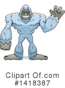 Royalty-Free (RF) Yeti Clipart Illustration #1418387