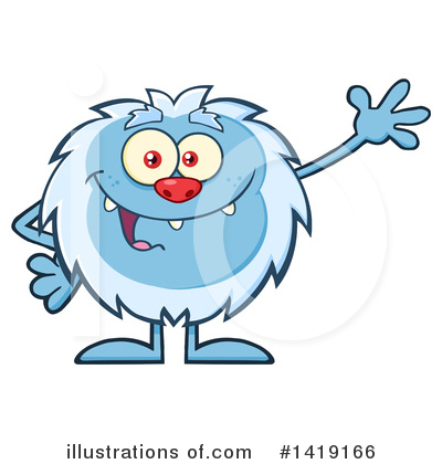 Abominable Snowman Clipart #1419166 by Hit Toon