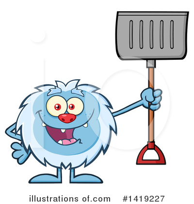 Snow Shovel Clipart #1419227 by Hit Toon