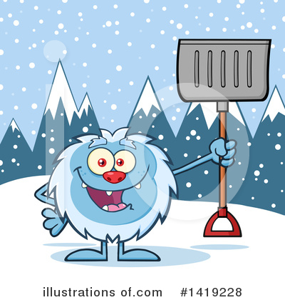 Snow Shovel Clipart #1419228 by Hit Toon