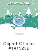 Yeti Clipart #1419232 by Hit Toon