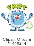 Yeti Clipart #1419244 by Hit Toon