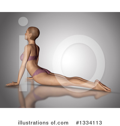 Yoga Clipart #1334113 by KJ Pargeter