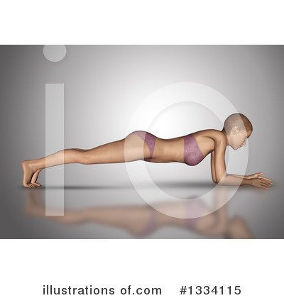 Yoga Clipart #1334115 by KJ Pargeter
