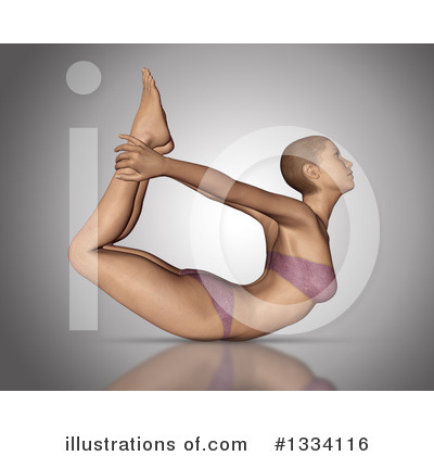 Yoga Clipart #1334116 by KJ Pargeter