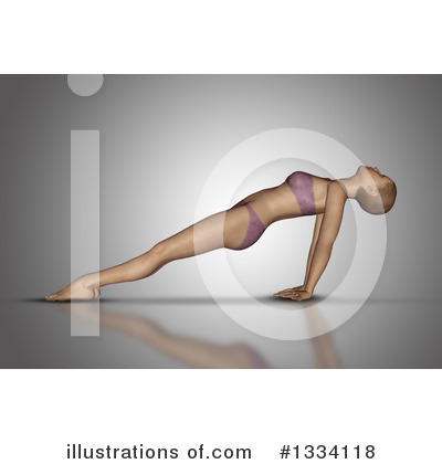 Yoga Clipart #1334118 by KJ Pargeter