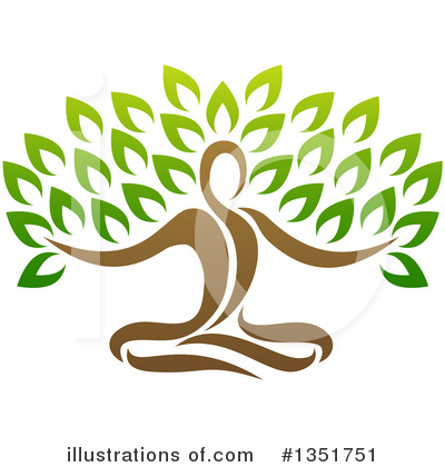Yoga Clipart #1351751 by AtStockIllustration