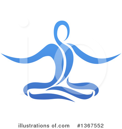 Yoga Clipart #1367552 by AtStockIllustration