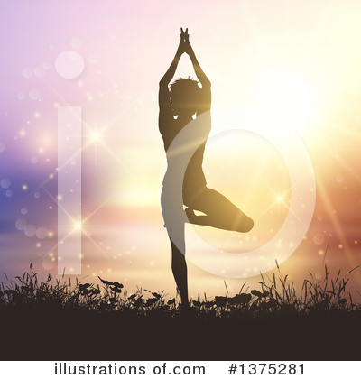 Yoga Clipart #1375281 by KJ Pargeter