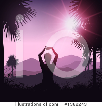 Yoga Clipart #1382243 by KJ Pargeter