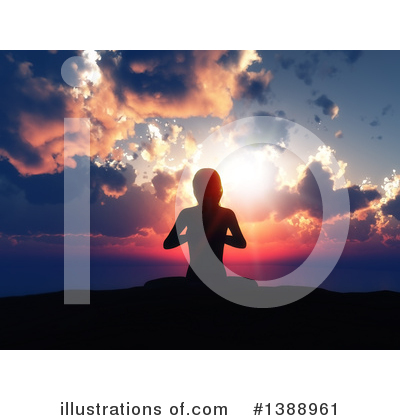 Yoga Clipart #1388961 by KJ Pargeter