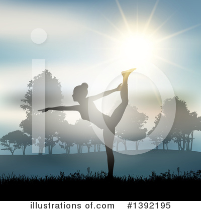 Yoga Clipart #1392195 by KJ Pargeter