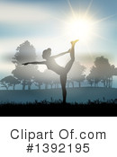 Royalty-Free (RF) Yoga Clipart Illustration #1392195