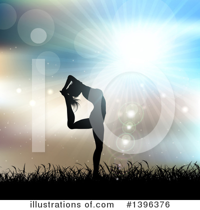 Royalty-Free (RF) Yoga Clipart Illustration by KJ Pargeter - Stock Sample #1396376