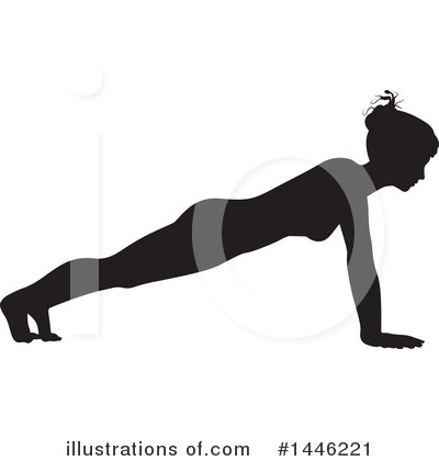 Yoga Clipart #1446221 by AtStockIllustration