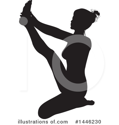 Yoga Clipart #1446230 by AtStockIllustration