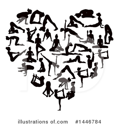 Yoga Clipart #1446784 by AtStockIllustration