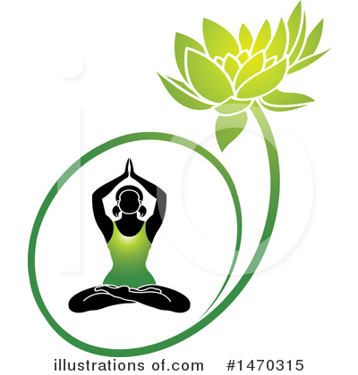Meditating Clipart #1470315 by Lal Perera