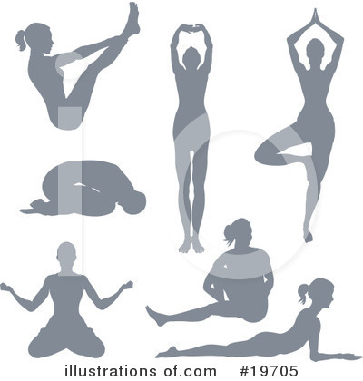 Yoga Clipart #19705 by AtStockIllustration