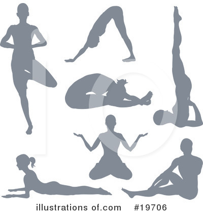 Yoga Clipart #19706 by AtStockIllustration