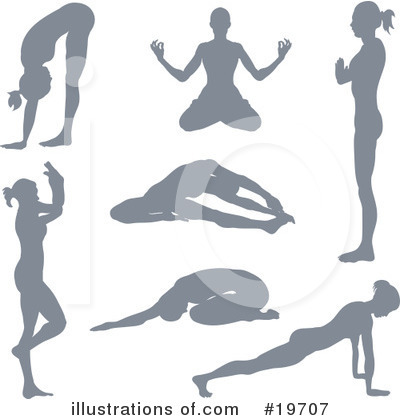 Yoga Clipart #19707 by AtStockIllustration