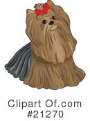 Royalty-Free (RF) Yorkie Clipart Illustration #21270