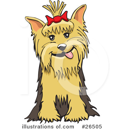 Royalty-Free (RF) Yorkie Clipart Illustration by David Rey - Stock Sample #26505