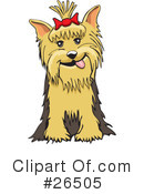 Royalty-Free (RF) Yorkie Clipart Illustration #26505
